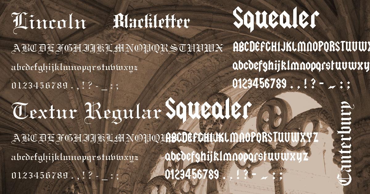 b30b3fa493 Ingyenesen letölthető 12 gótikus betűtípus | logo2go