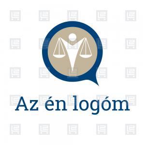 Mérlegképes könyvelő ügyvédi iroda logó - Kék aba9c22742