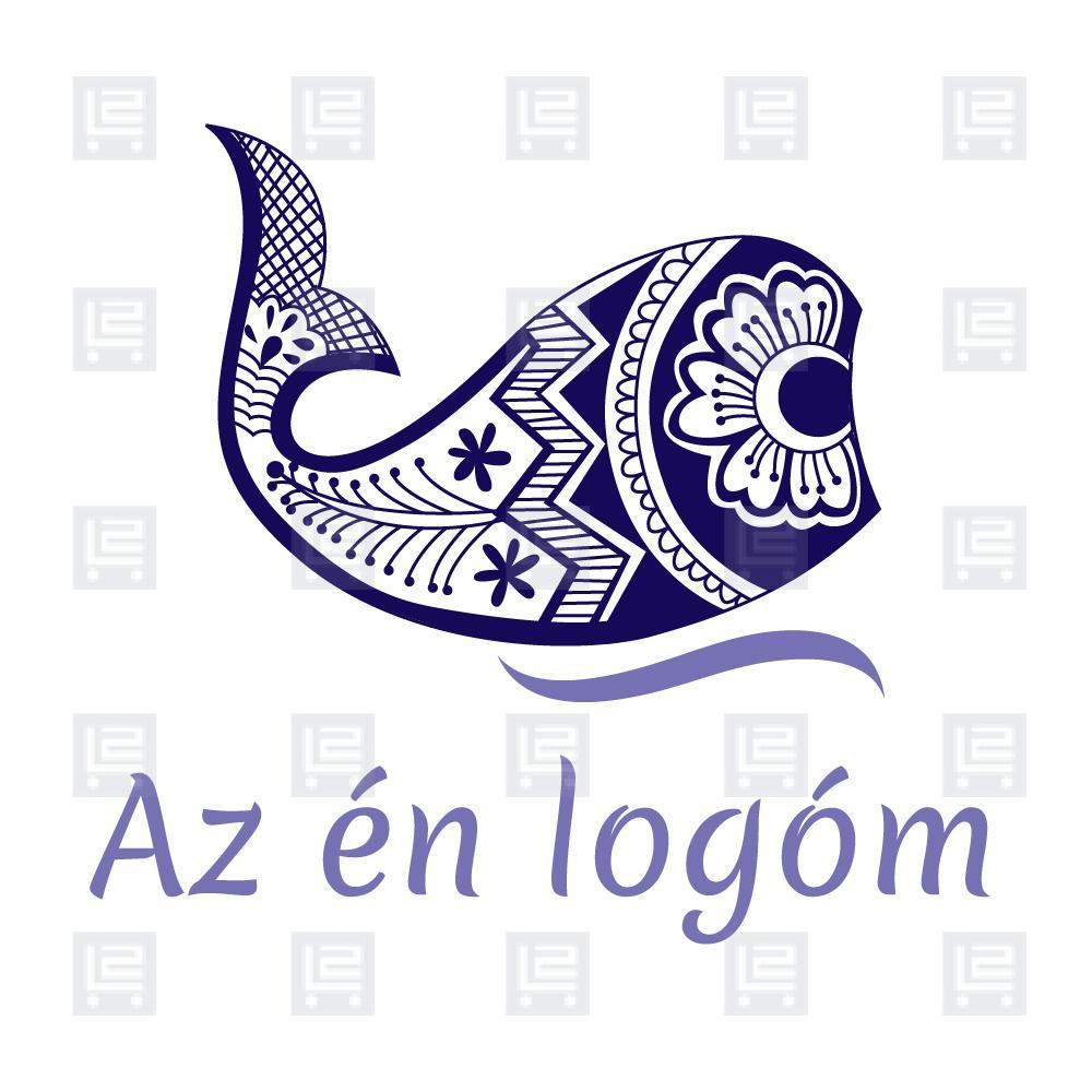 Modern hal hímzett népi motívum logó 2a5548afe8